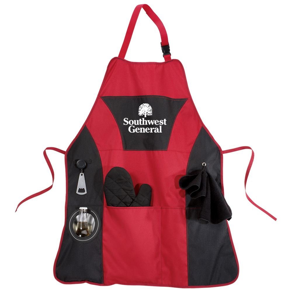 Grill Master Apron Gift Set - Personalization Available