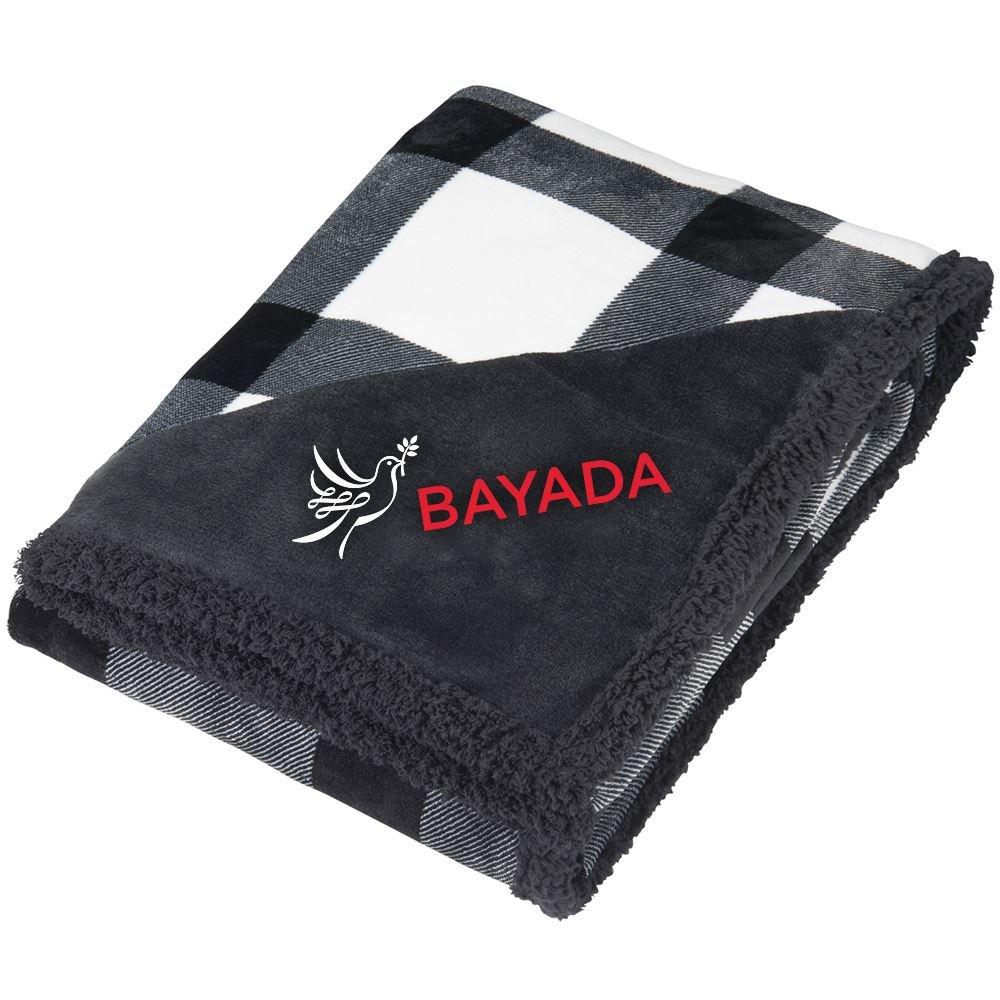 Sherpa Buffalo Plaid Blanket - Personalization Available