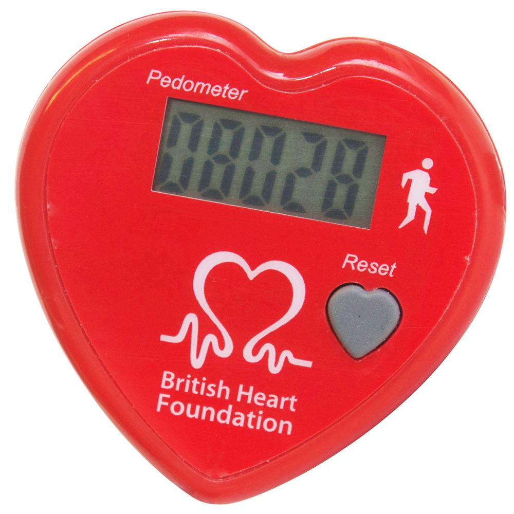 Heart Shaped Pedometer - Personalization Available