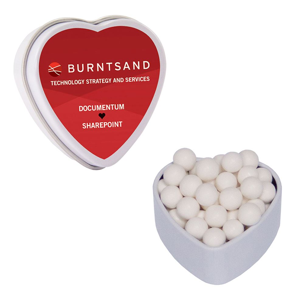 Small Heart Tin With Mints - Personalization Available