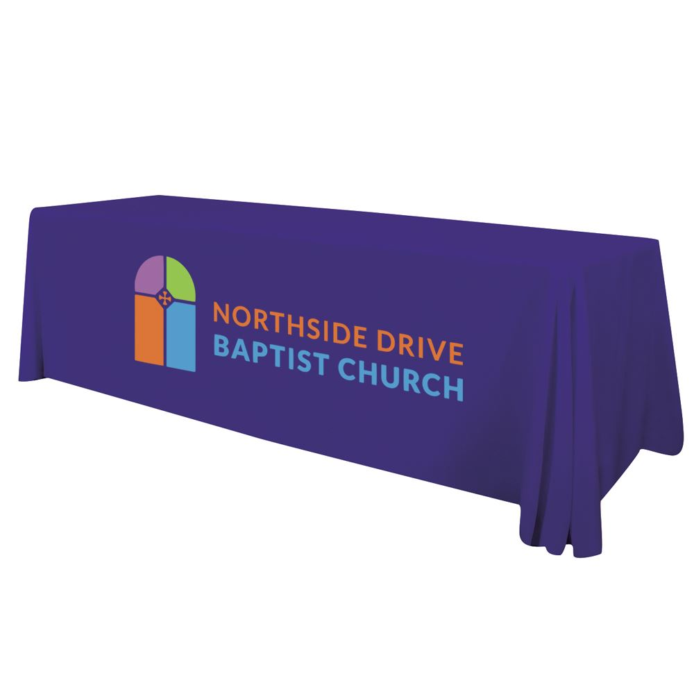 8' Standard Table Throw (Full-Color Imprint, One Location)