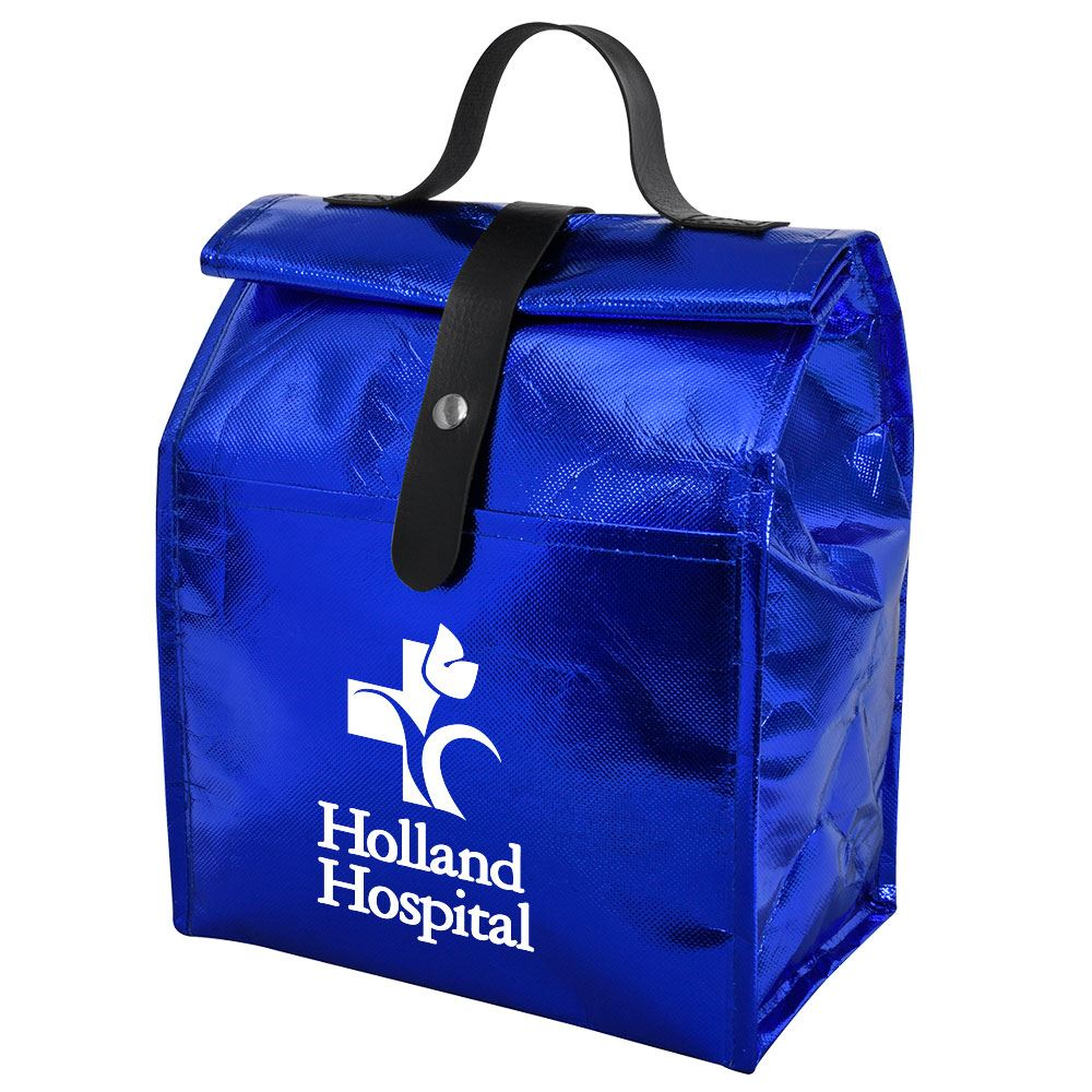 Metallic Non-Woven Roll Lunch Bag - Personalization Available