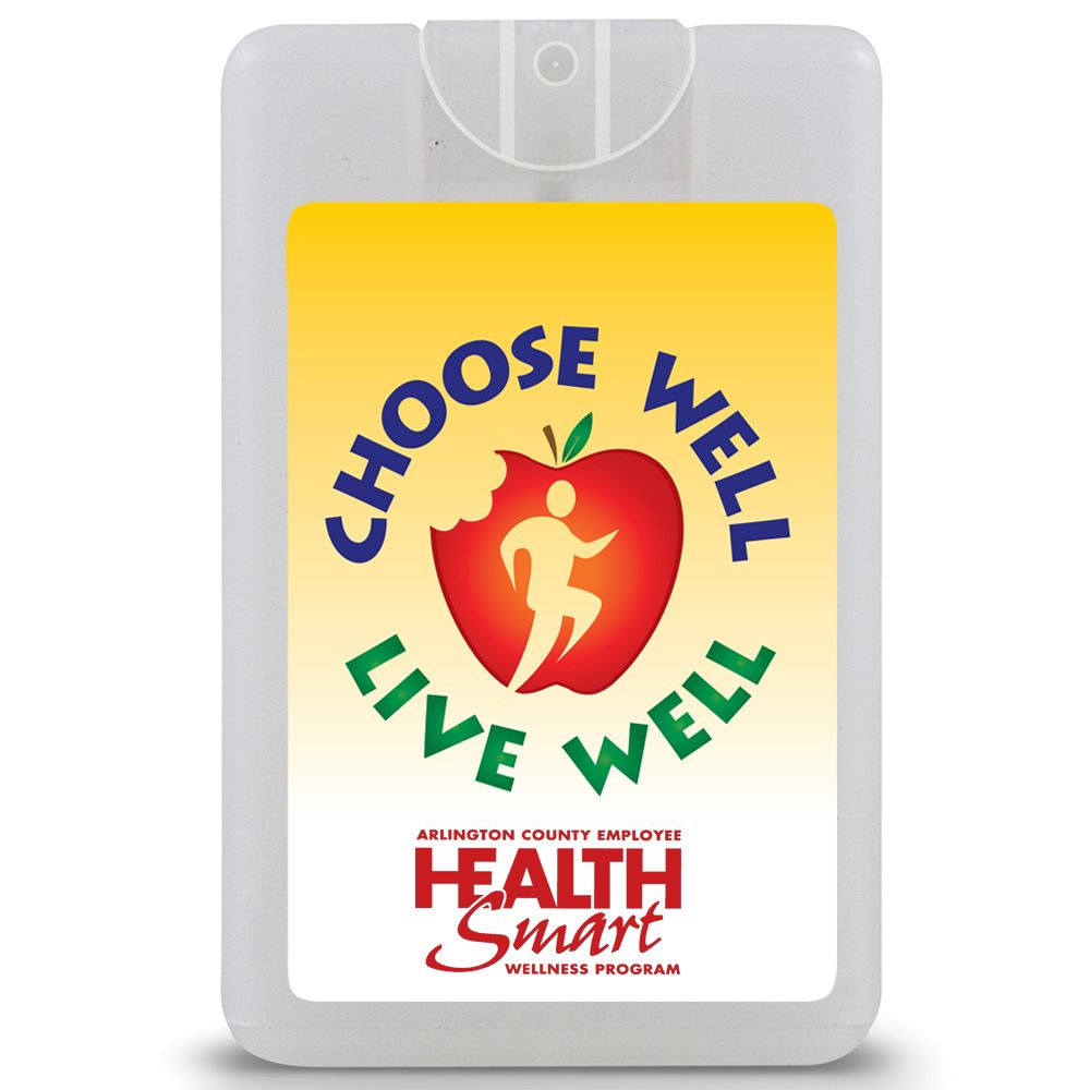 Choose Well, Live Well Credit Card Style Antibacterial Hand Sanitizer Spray - Personalization Available