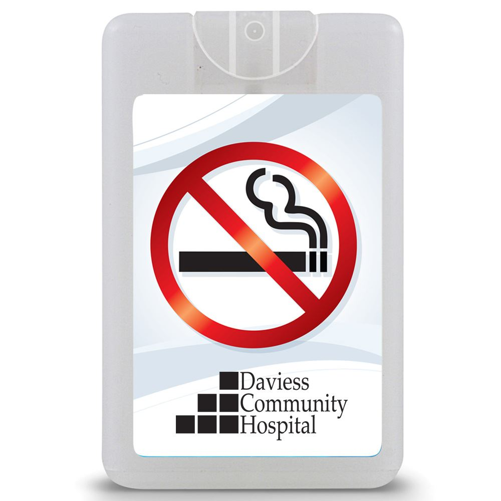 No Smoking Credit Card Style Antibacterial Hand Sanitizer Spray - Personalization Available