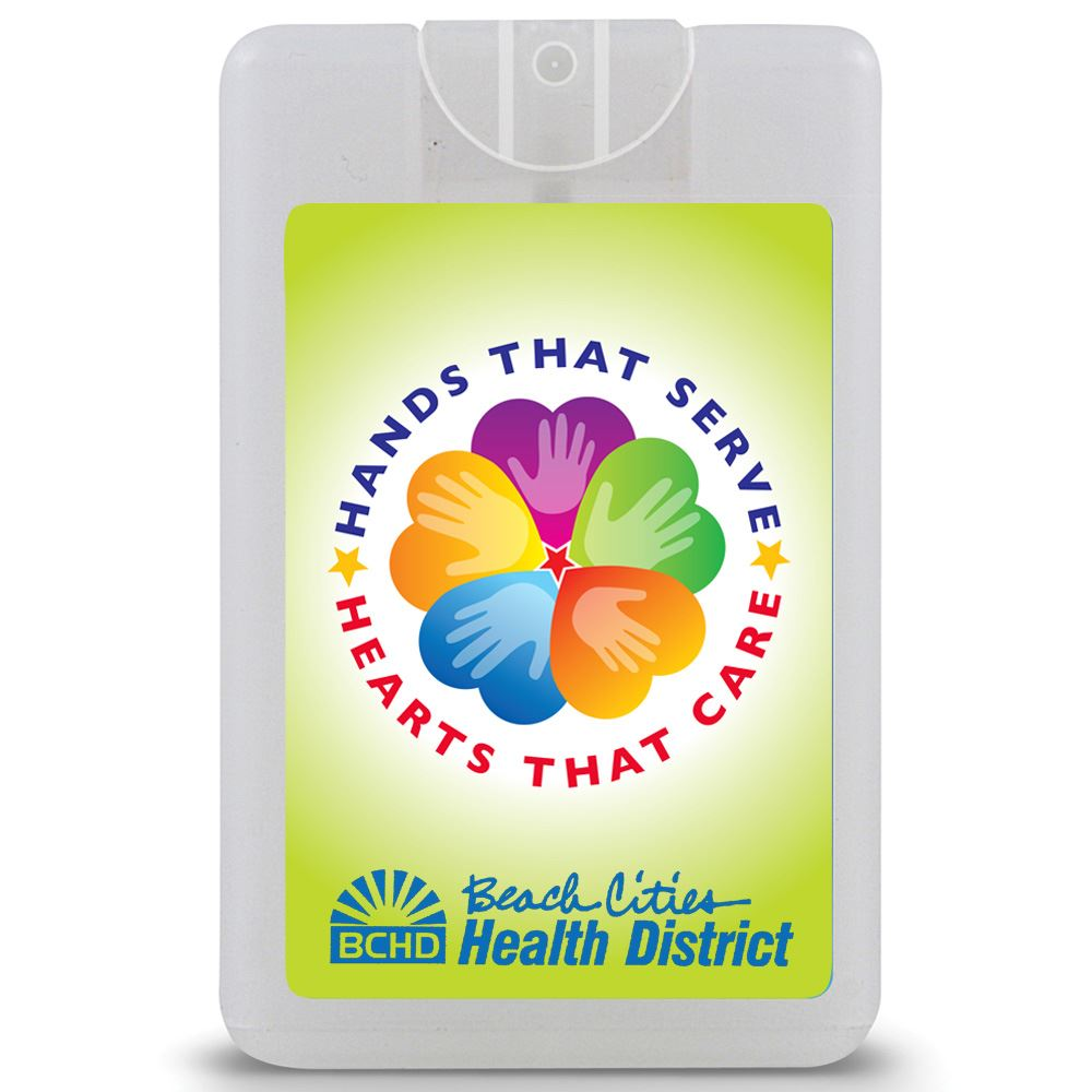 Hands That Serve, Hearts That Care Credit Card Style Antibacterial Hand Sanitizer Spray - Personalization Available