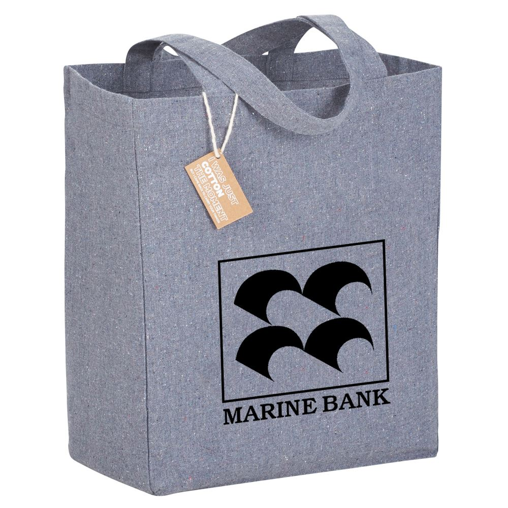 Heathered Cotton Recycled Grocery Tote - Personalization Available