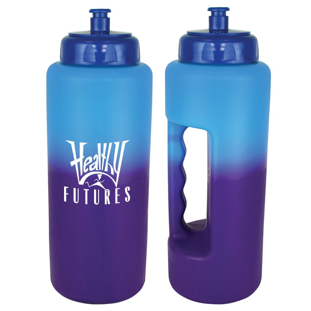 Mood Grip Bottle With Push 'N Pull Cap 32-Oz. - Personalization Available