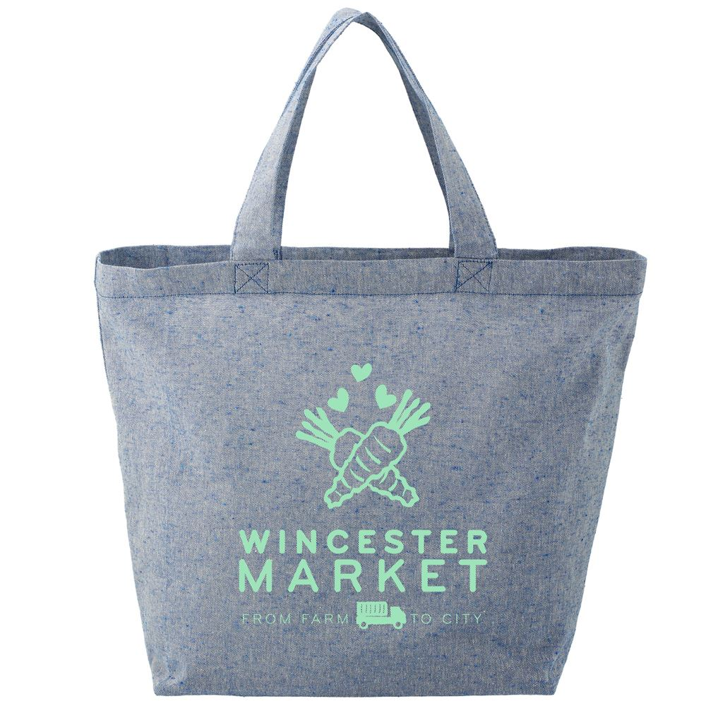 Recycled 5-Oz. Cotton Twill Grocery Tote - Personalization Available