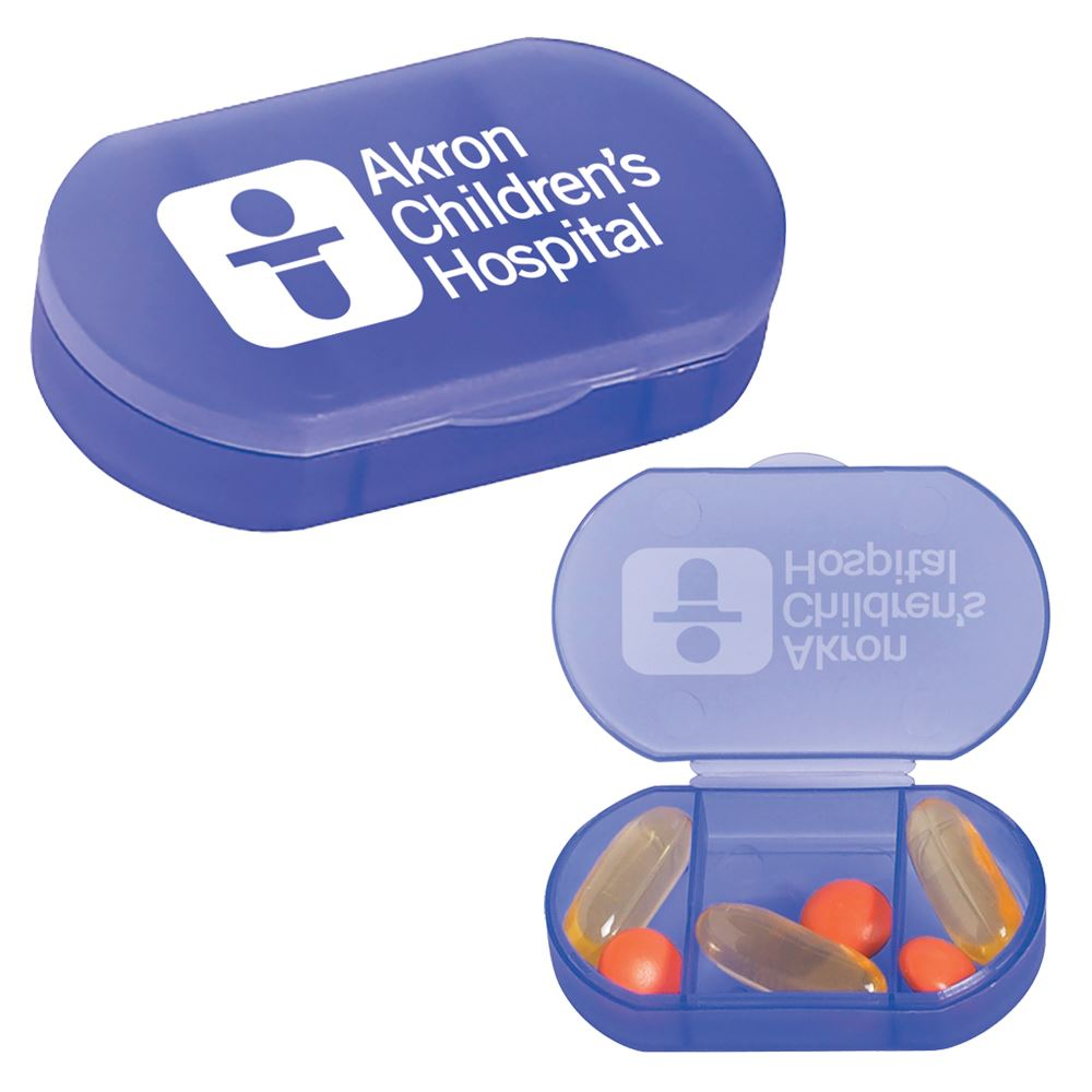 Oval Shape Pill Holder - Personalization Available