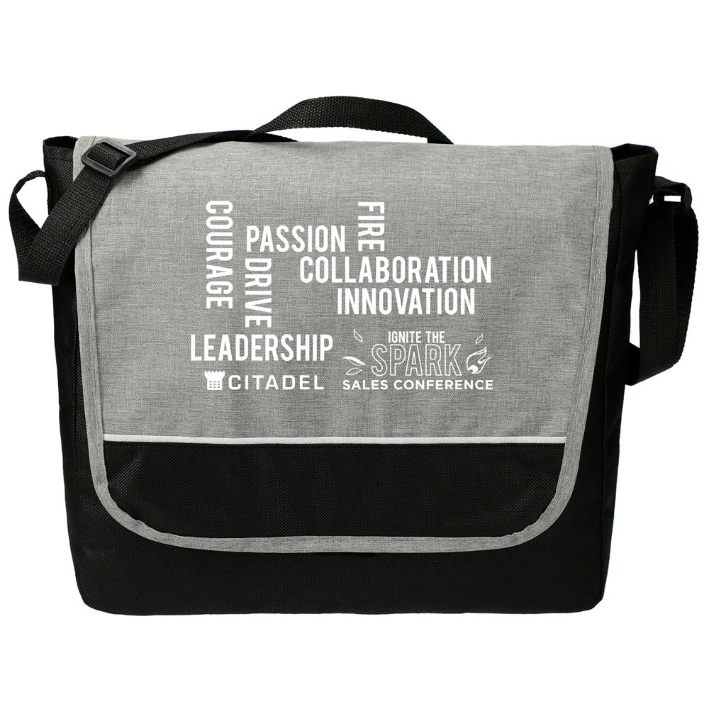 Stone Messenger Bag - Personalization Available