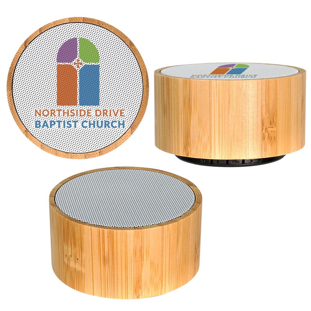 Eco-Friendly Bamboo Wireless Bluetooth® Speaker - Full Color Personalization Available
