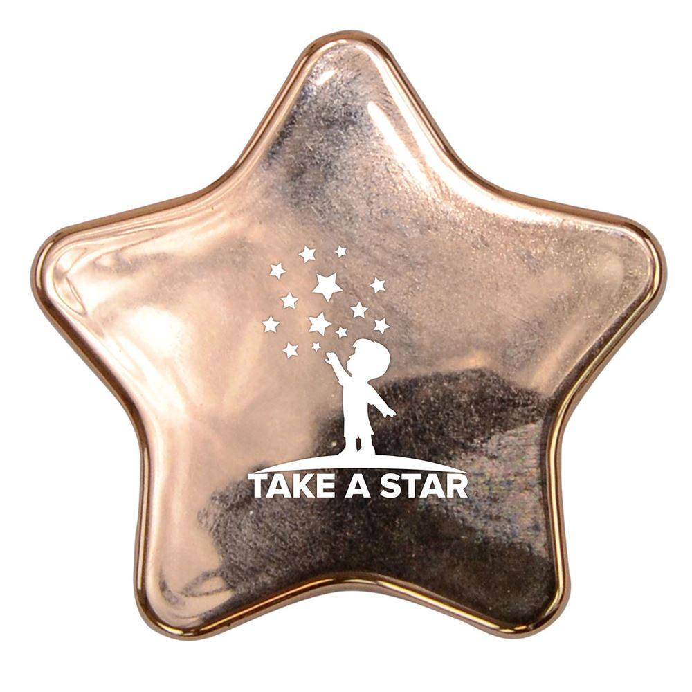 Metallic Star-Shaped Lip Balm With Mirror - Personalization Available