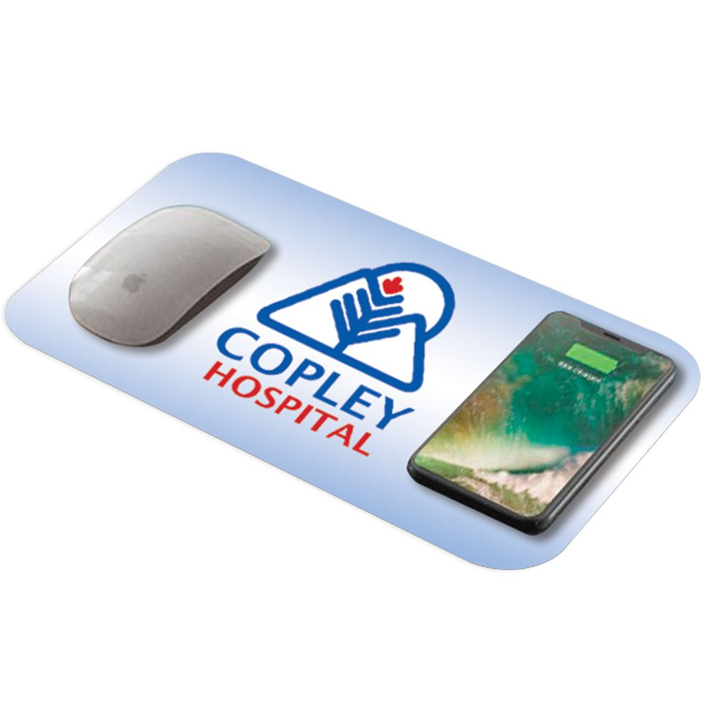 Wireless Charging Mouse Pad - Full-Color Personalization Available
