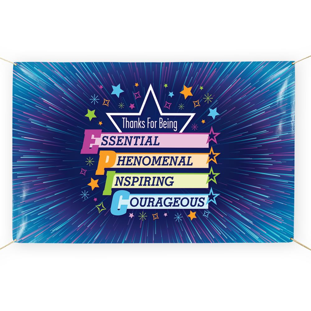 Thanks For Being Epic 5' x 3' Vinyl Banner