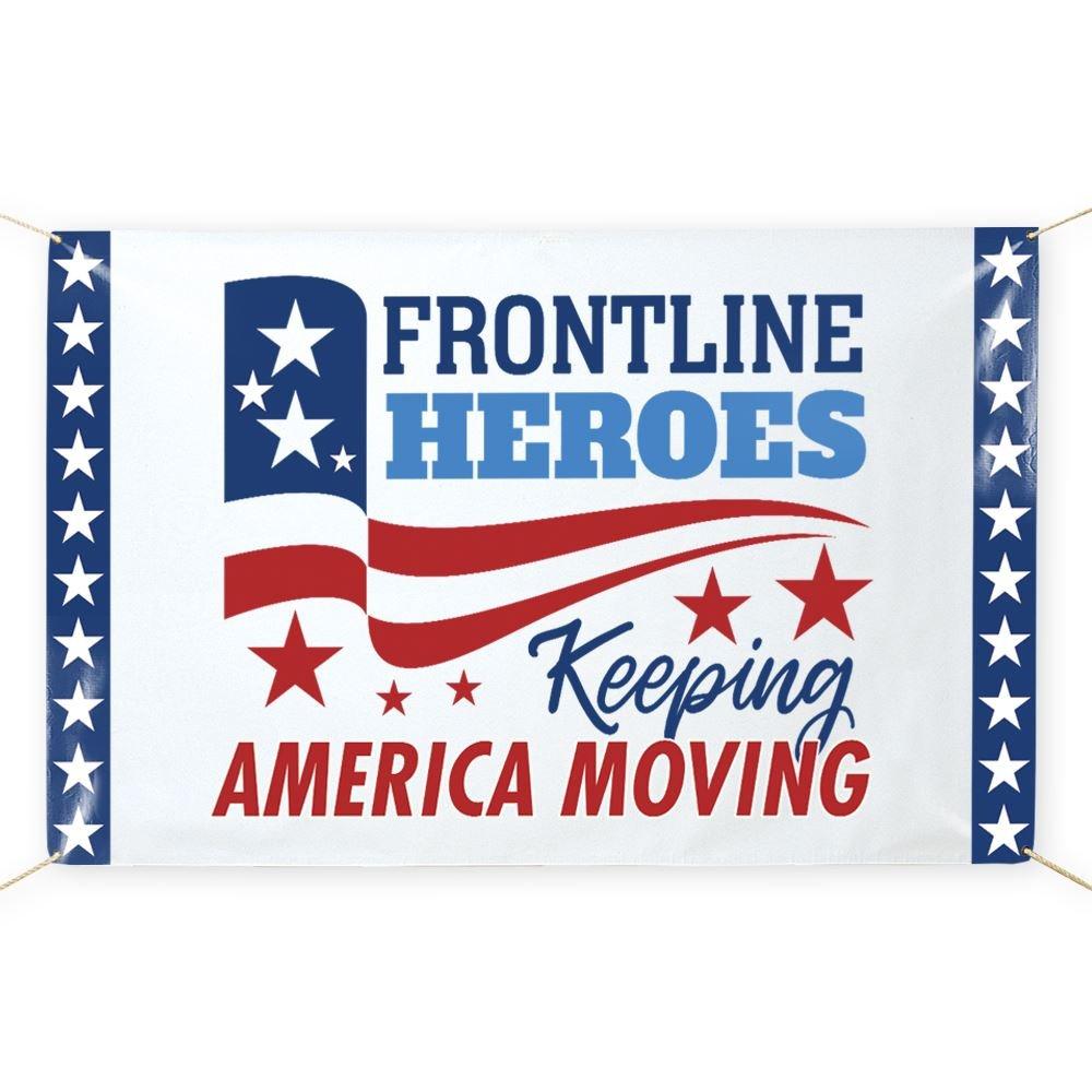 Frontline Heroes Keeping America Moving 5' x 3' Vinyl Banner