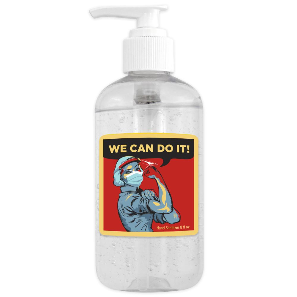 8 Oz. Sanitizer Gel Pump - We Can Do It!