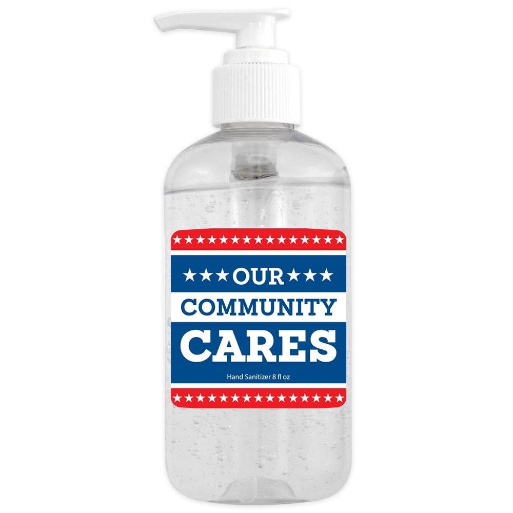 8 Oz. Sanitizer Gel Pump - Our Community Cares