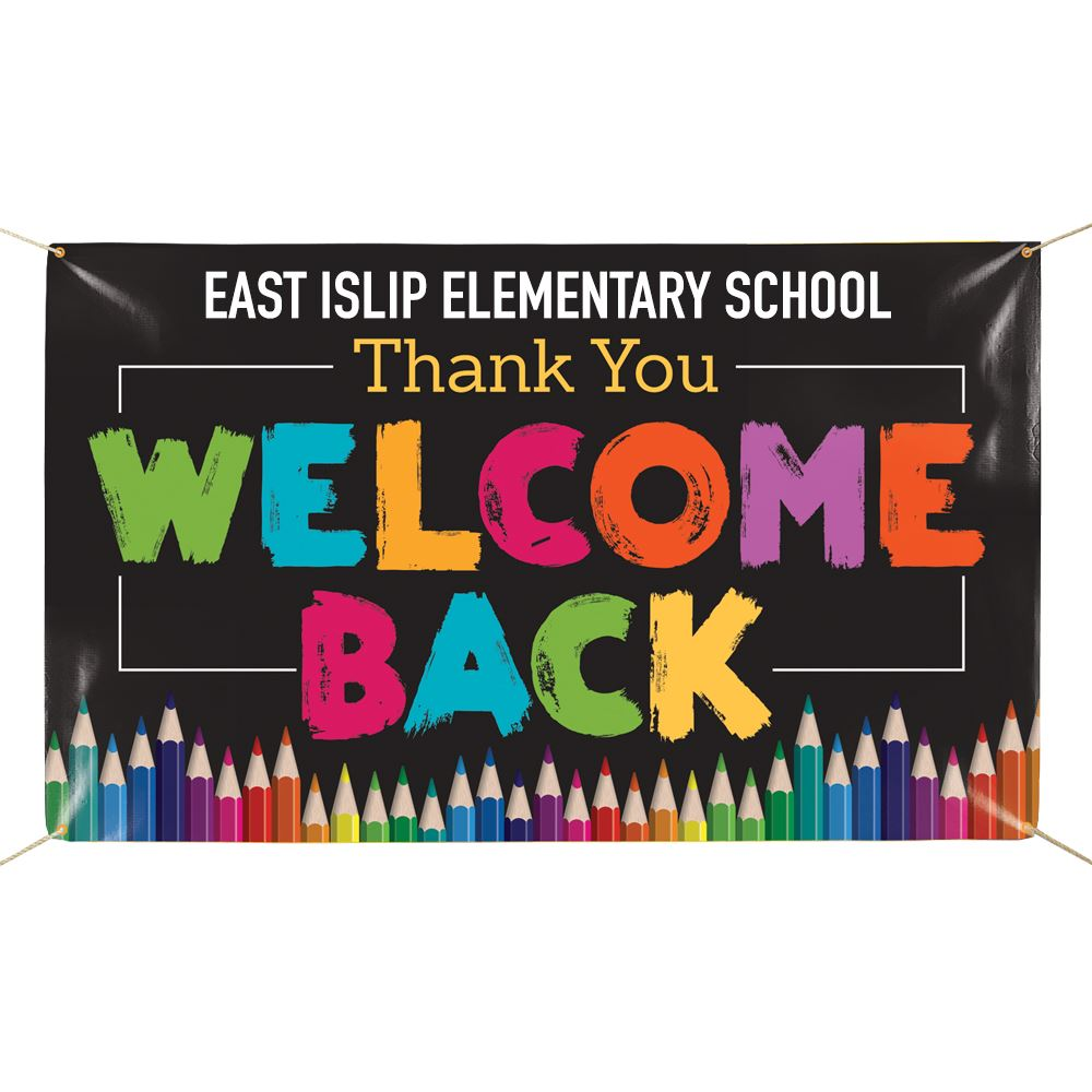 Thank You Welcome Back 5' x 3' Vinyl Banner