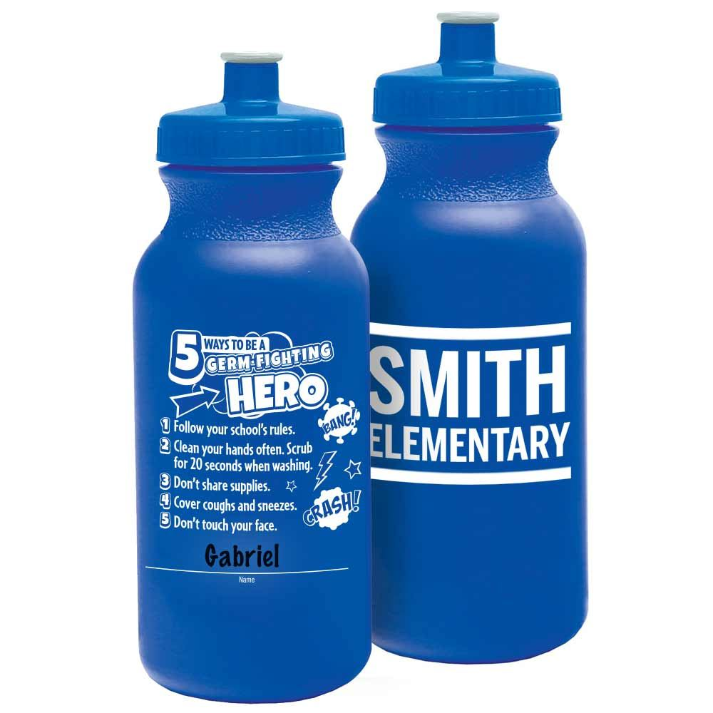 5 Ways To Be A Germ-Fighting Hero Sporty Squeeze Bottle 20-Oz. - Personalization Available