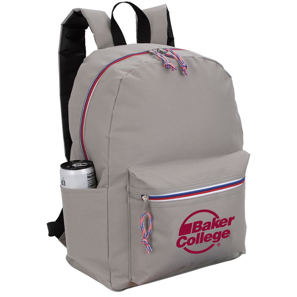 Tri-Color Zipper Backpack-Personalization Available