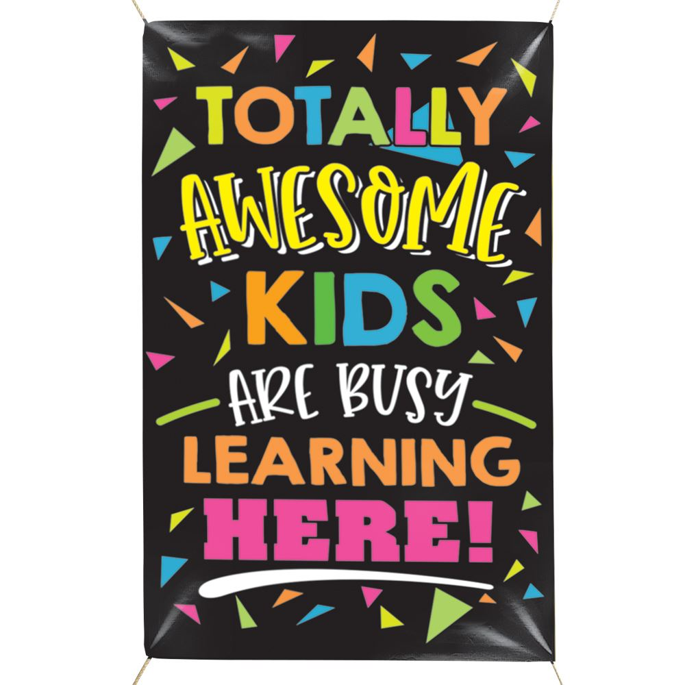 Totally Awesome Kids 5' x 3' Vinyl Banner