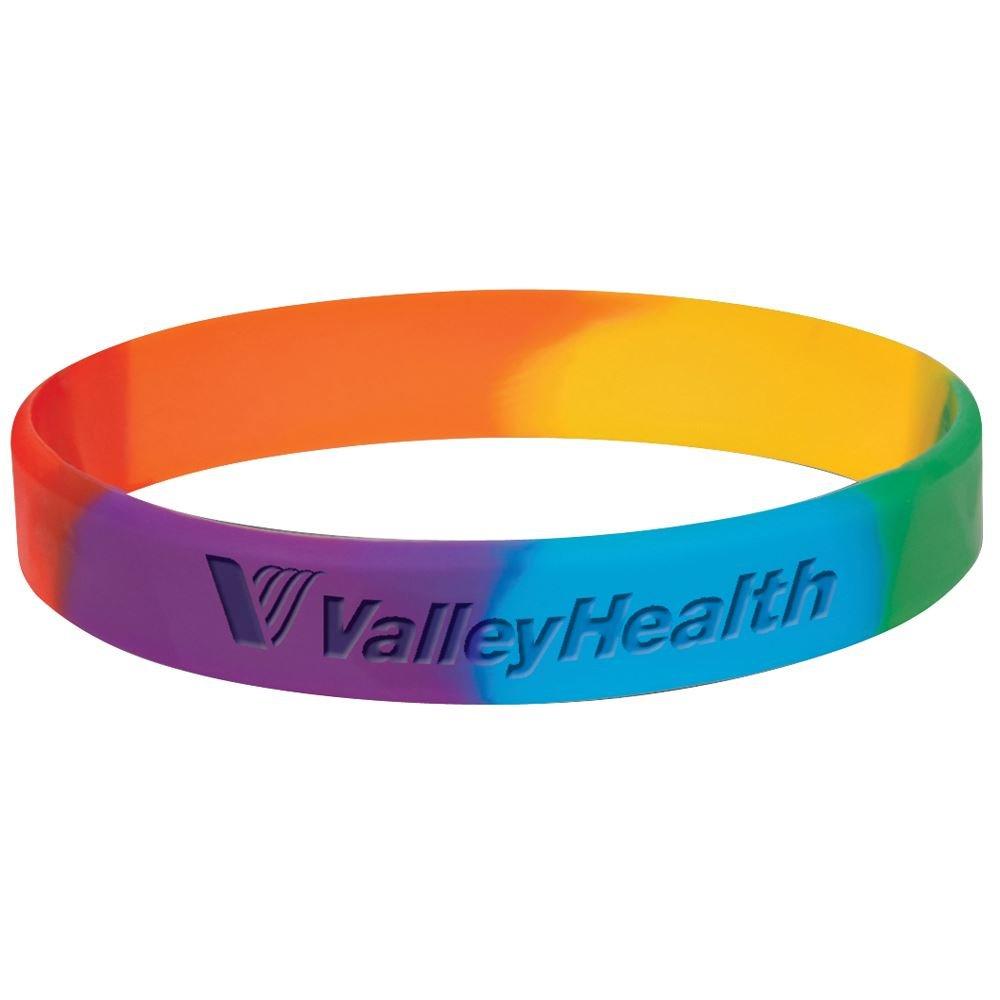 Celebrate with Pride Rainbow Silicone Bracelet