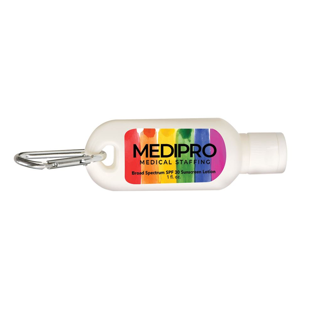 Pride 1 Oz. SPF 30 Sunscreen With Carabiner