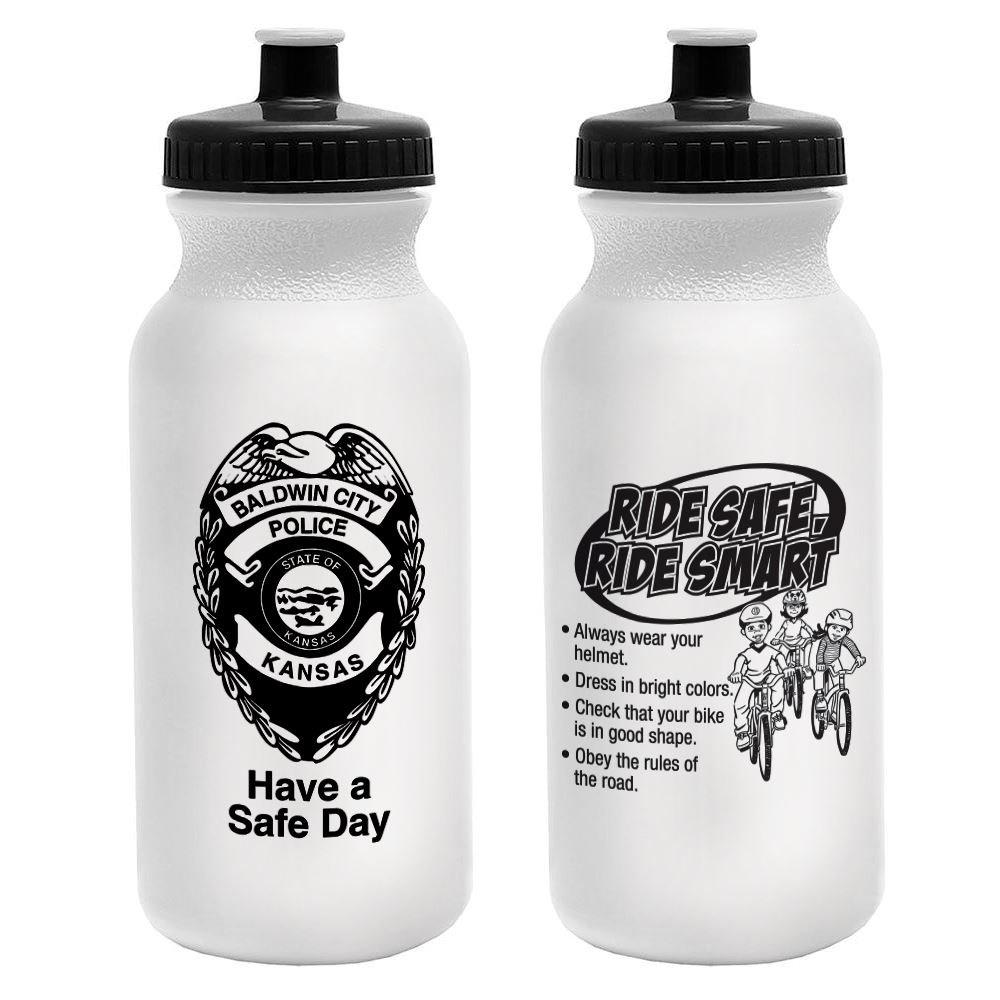Ride Safe. Ride Smart. Water Bottle - 20 Oz.