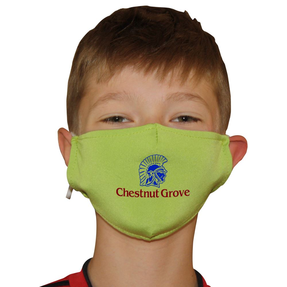 Youth 2-Ply Blended Face Mask with Antimicrobial Additive - Full Color Personalization Available