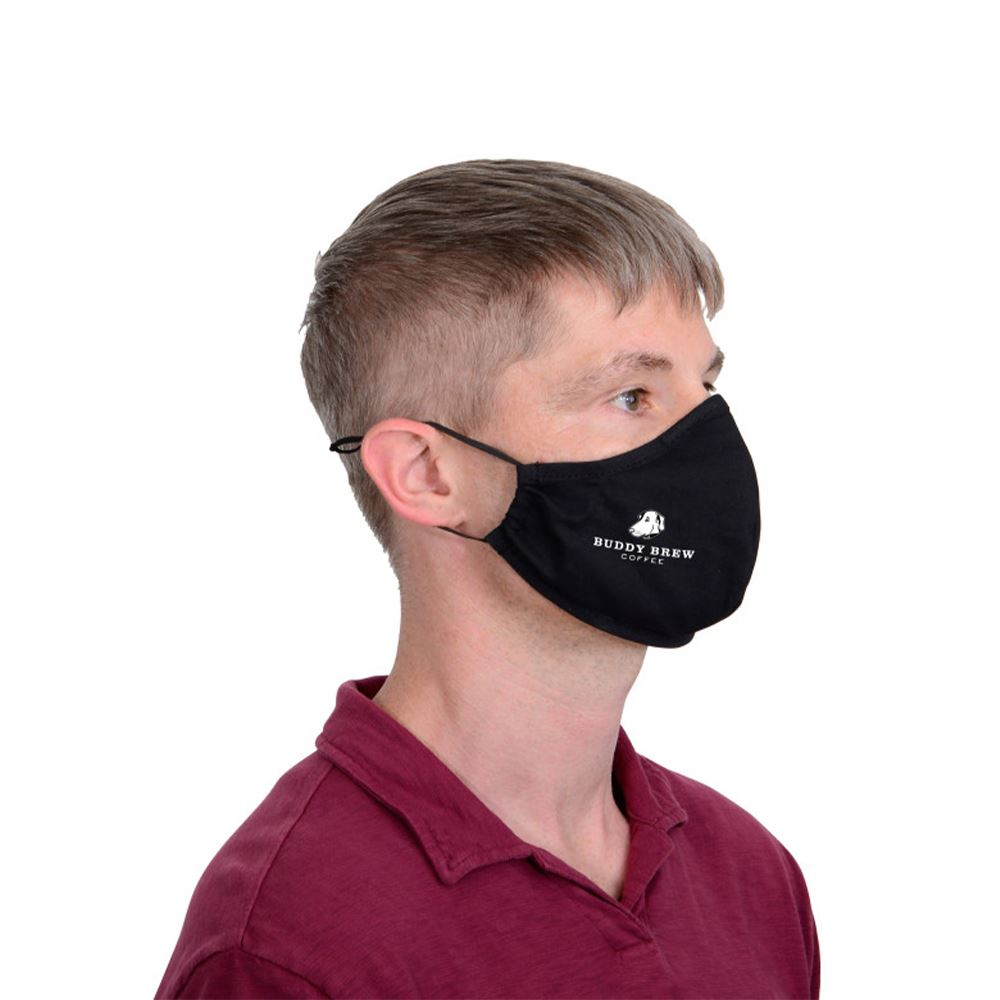 2-Ply Poly/Cotton Blended Adjustable Face Mask with Personalization Available