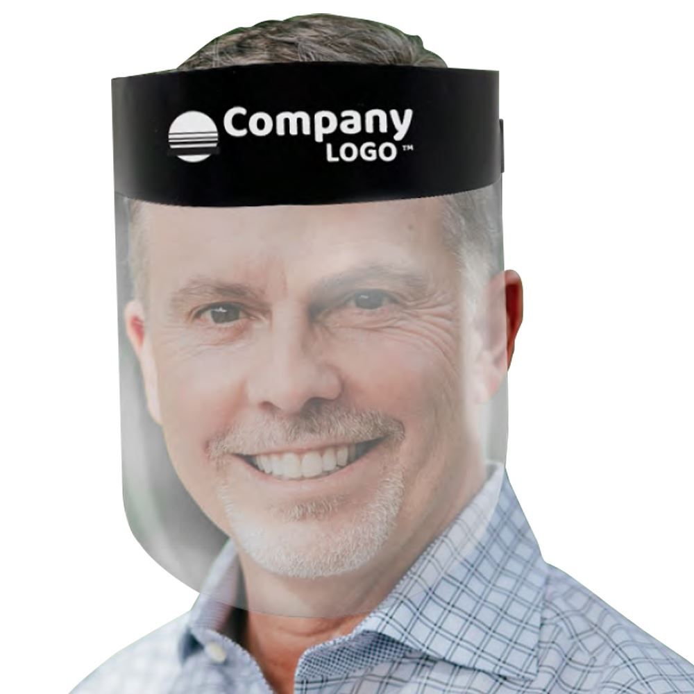 American Made Reusable Face Shield with Removable Ventilated Foam Headpiece - Personalization Available