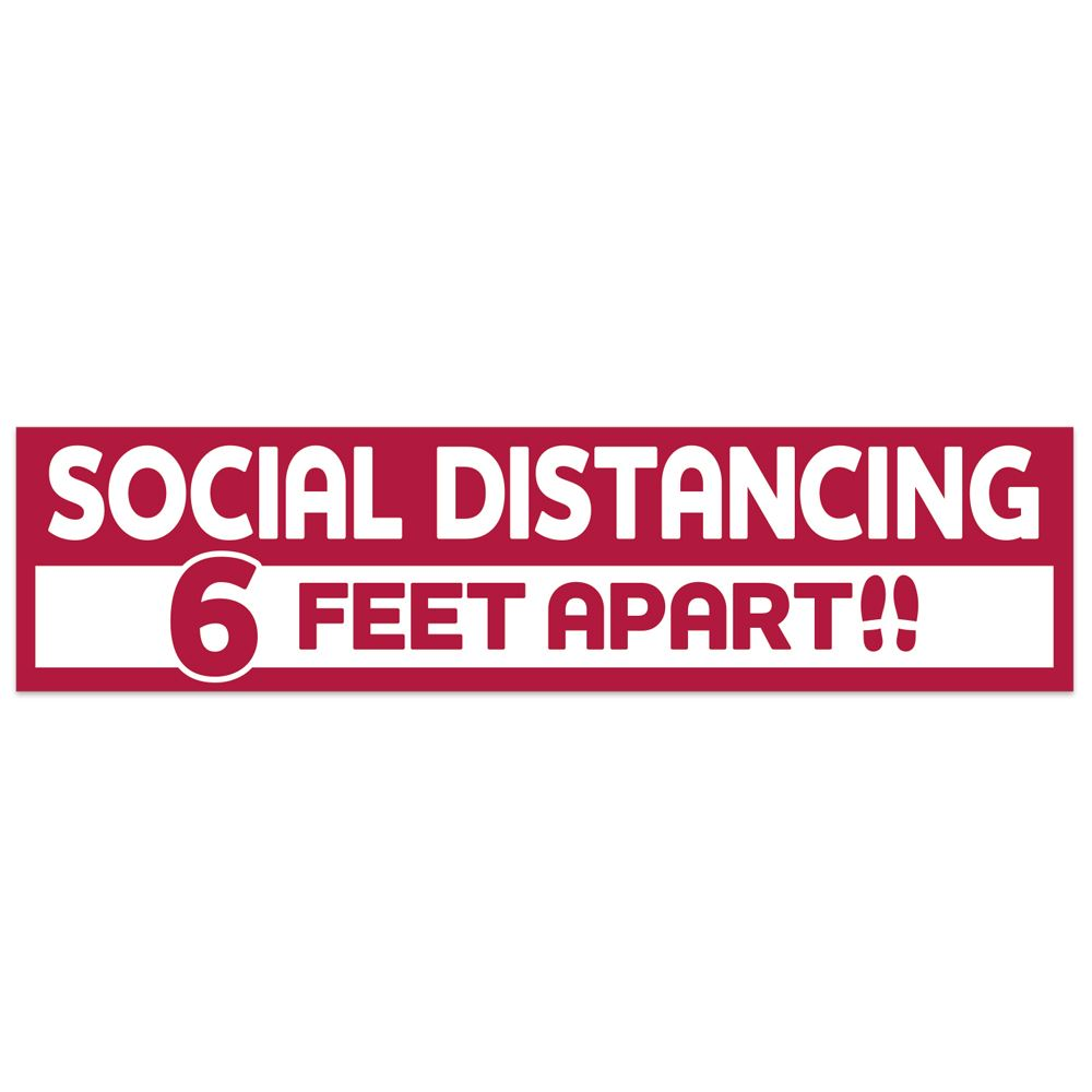 Social Distancing 6 Feet Apart Floor Decal