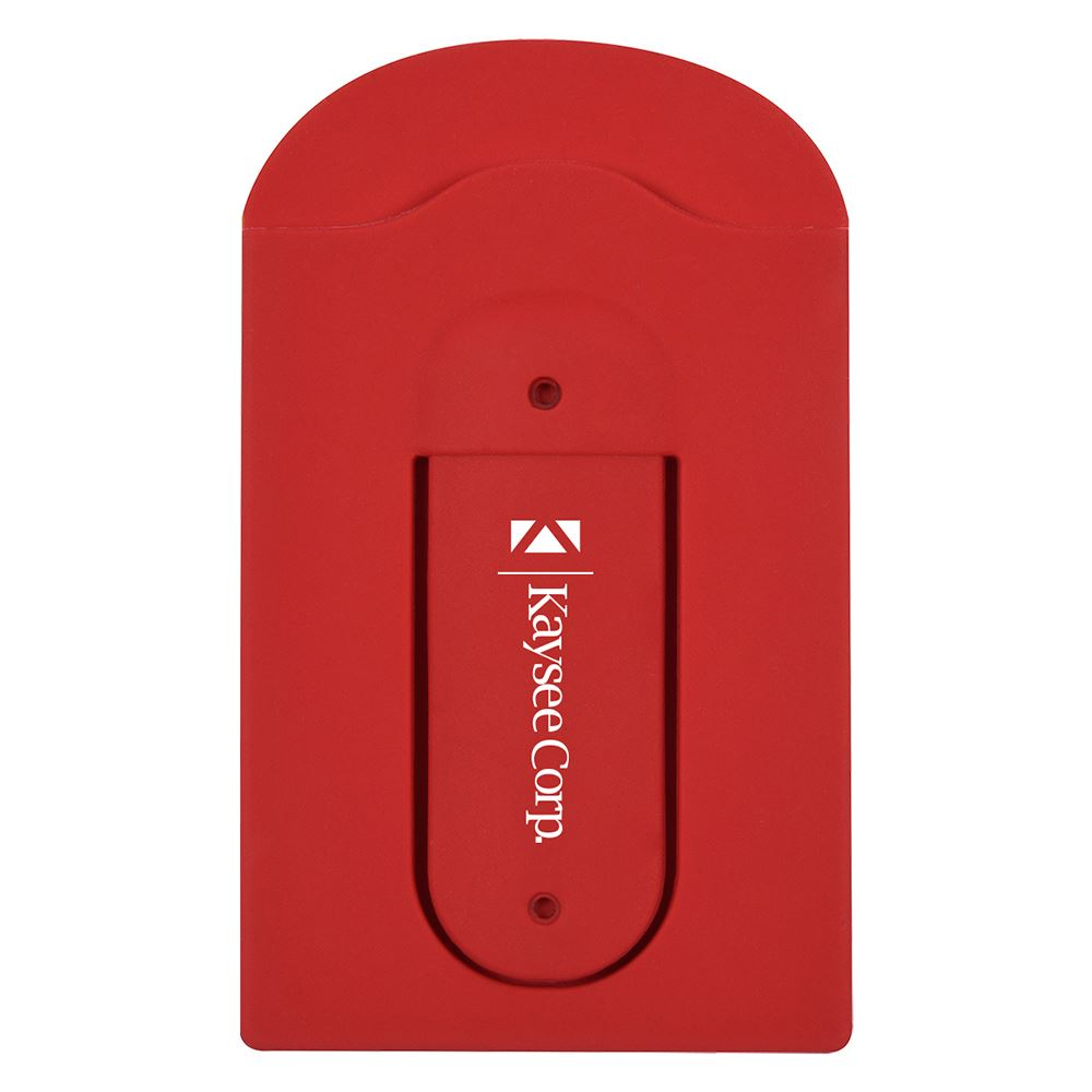 Silicone Vent Phone Wallet With Stand - Personalization Available