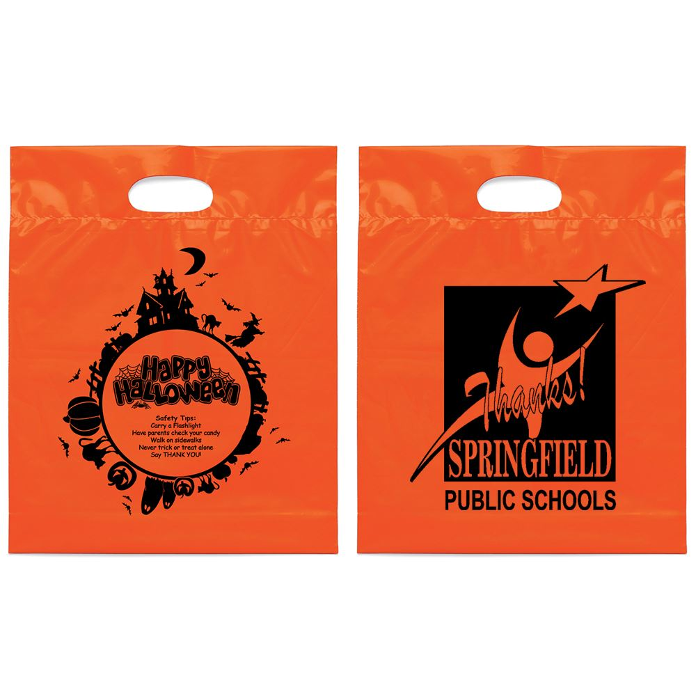 Fright Night Die Cut Halloween Bag - Personalization Available