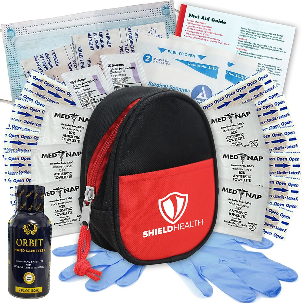 Zipper Tote Essential First Aid Kit - Personalization Available