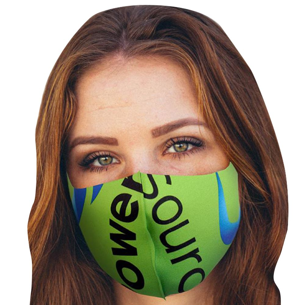 1-Ply Full Color Vibrant Face Mask - Personalization Available