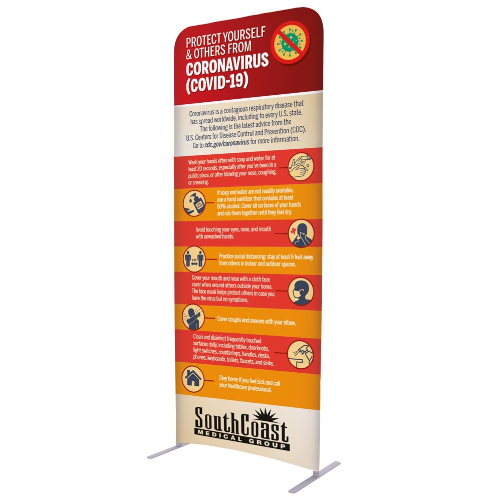 Protect Yourself & Others From COVID-19 Straight Wall Kit 3' x 90