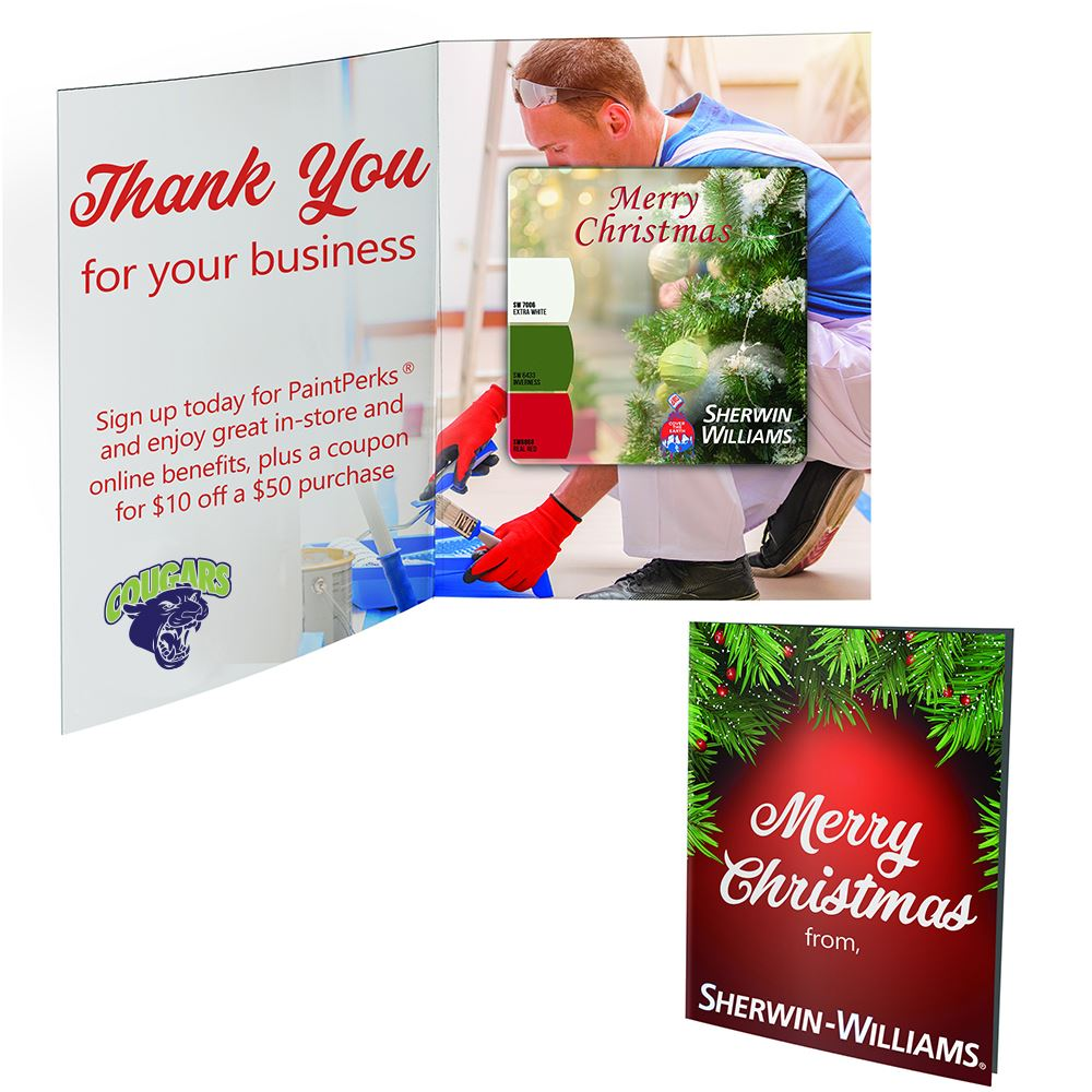 Greeting Card with Square Magnet - Personalization Available