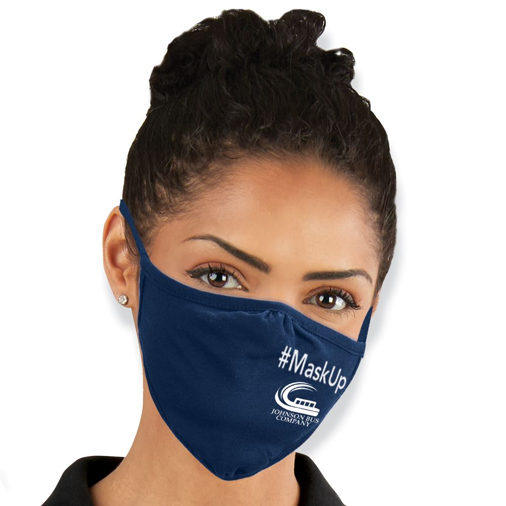 Next Level Eco-Friendly 2-Ply Blended Adult Face Mask - 1-Color Personalization Available