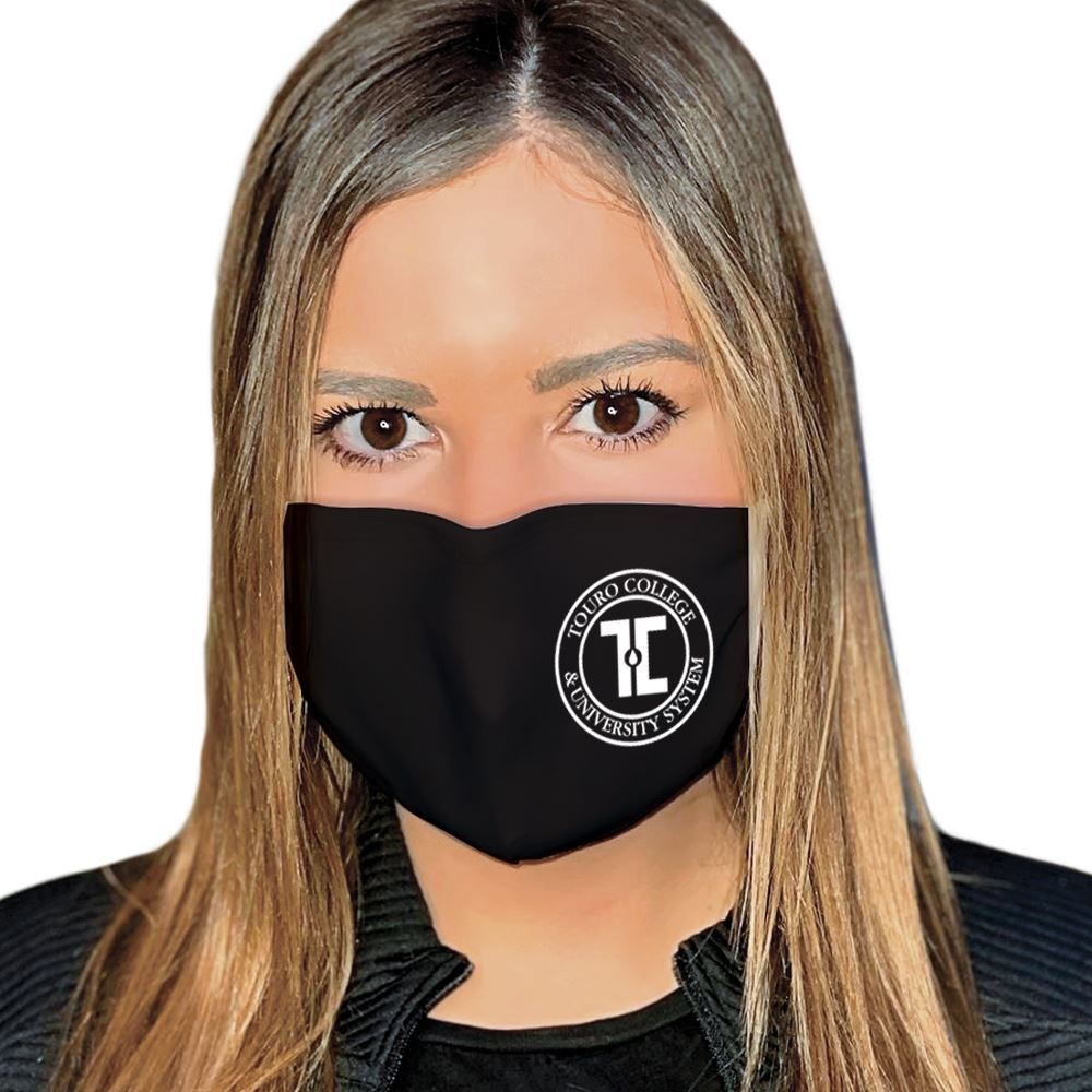 4-Ply 100% Cotton Face Mask With Nose Bridge And Adjustable Ear Loops - Washable & Reusable�- One-Color Personalization Available