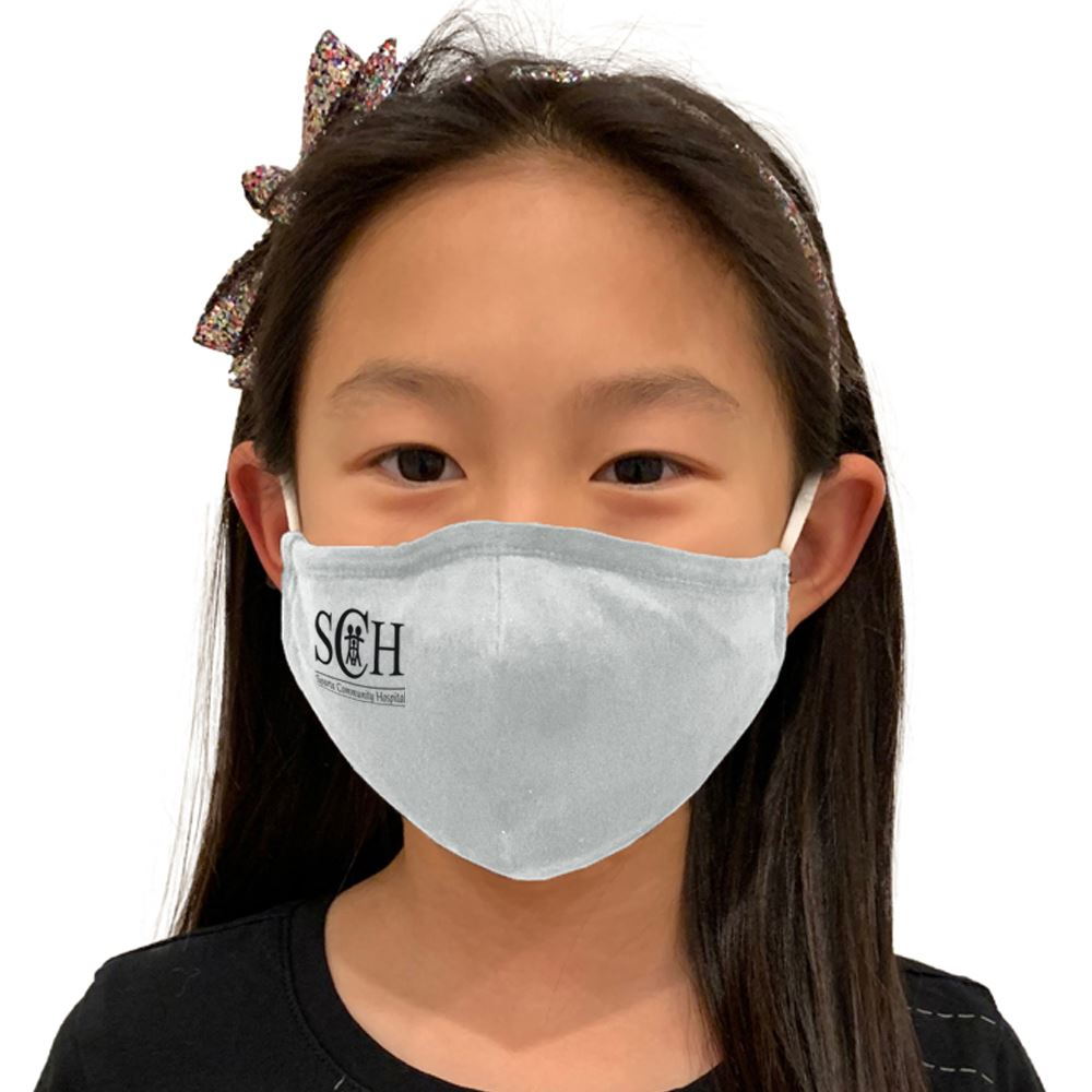4-Ply 100% Cotton Youth Face Mask With Adjustable Ear Loops & Nose Bridge- Washable & Reusable � Personalization Available