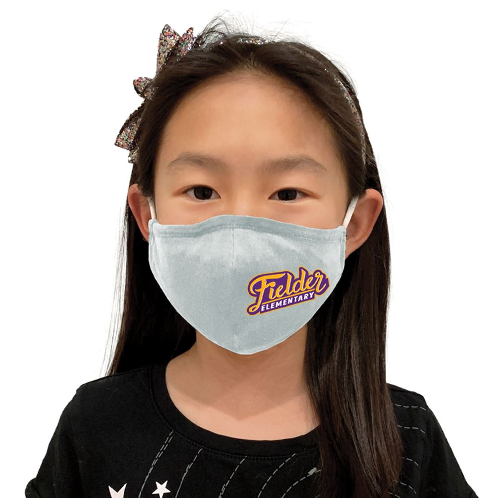 4-Ply 100% Cotton Youth Face Mask With Adjustable Ear Loops & Nose Bridge- Washable & Reusable Full Color � Personalization Available