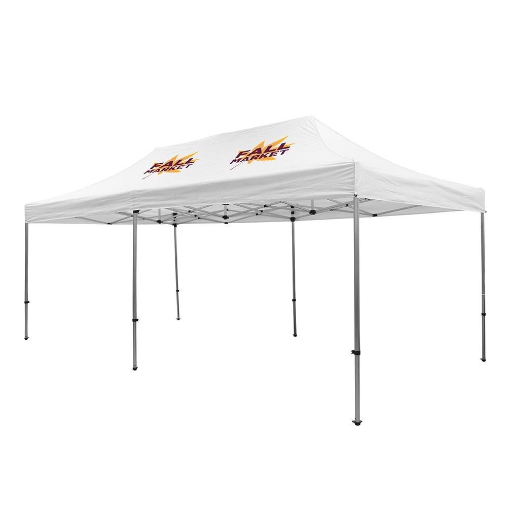 Premium Aluminum 20' Tent Kit (Full-Color Imprint, Two Locations)