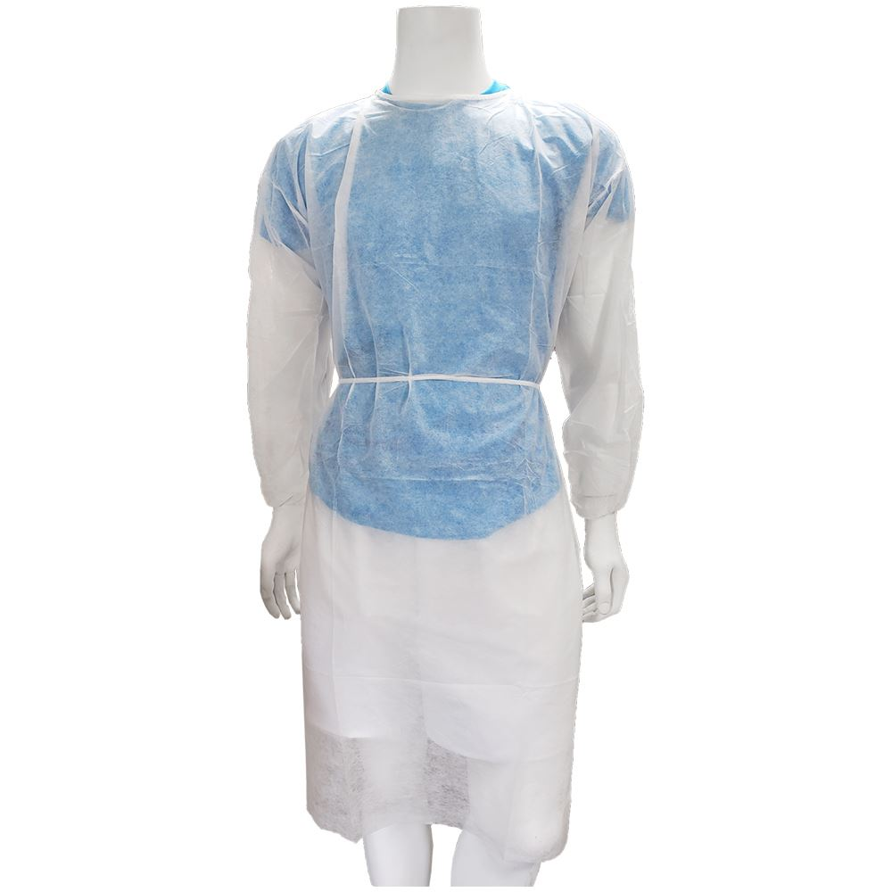 White Dimple Medical Gown