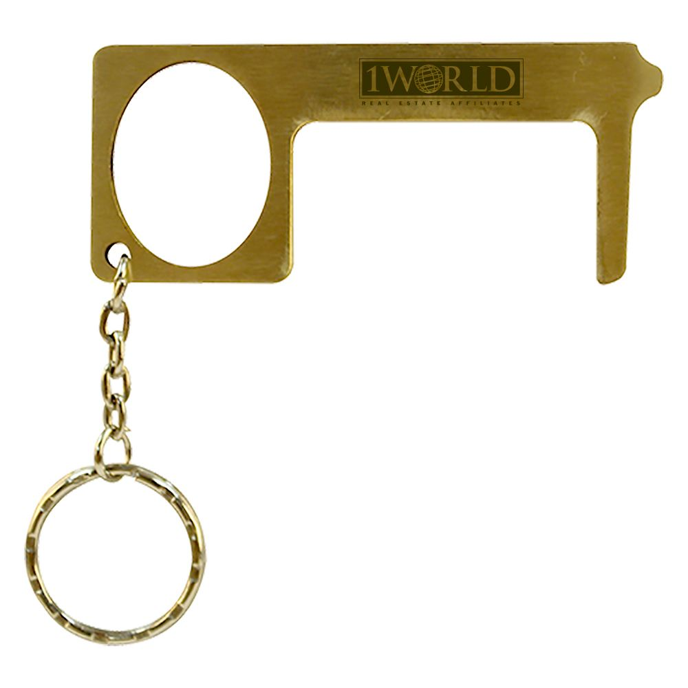Brass Door Opener Touch Tool - Personalization Available