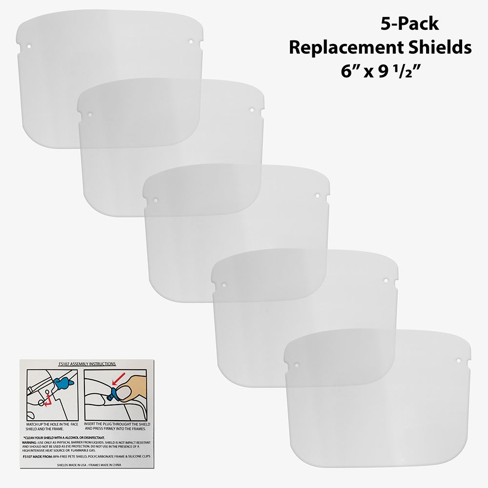 Replacement Shields - 5 Pack Small Shields