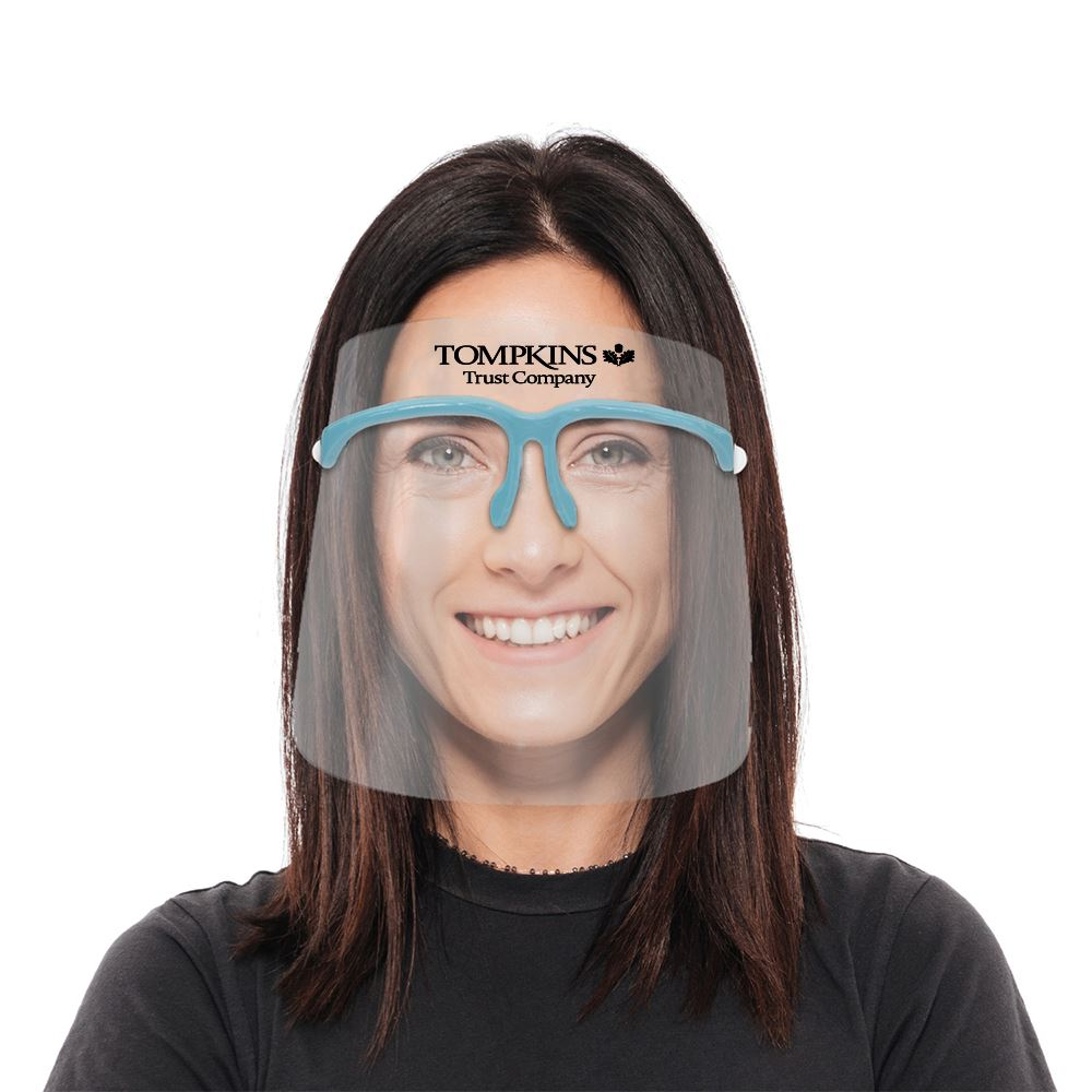 Replaceable Face Shield with Folding Frames - Personalization Available