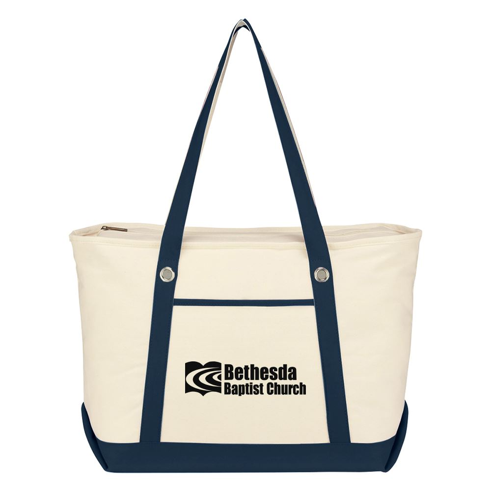 Large Cotton Cancas Sailing Tote Bag-Personalization Available