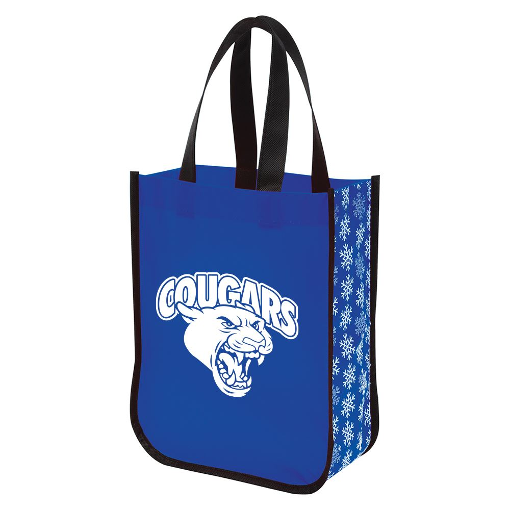 Snow Flurry Laminated Non-Woven Tote Bag-Personalization Available