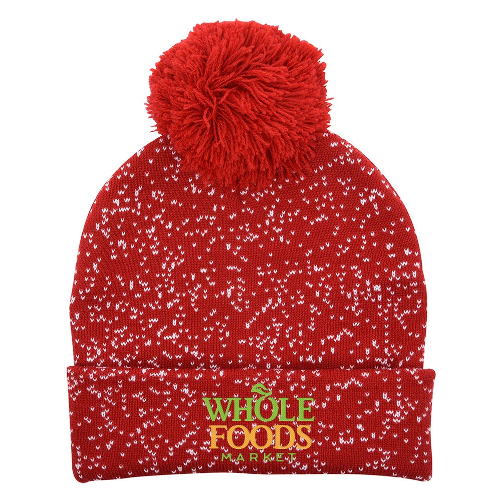 Speckled Pom Beanie With Cuff-Personalization Available